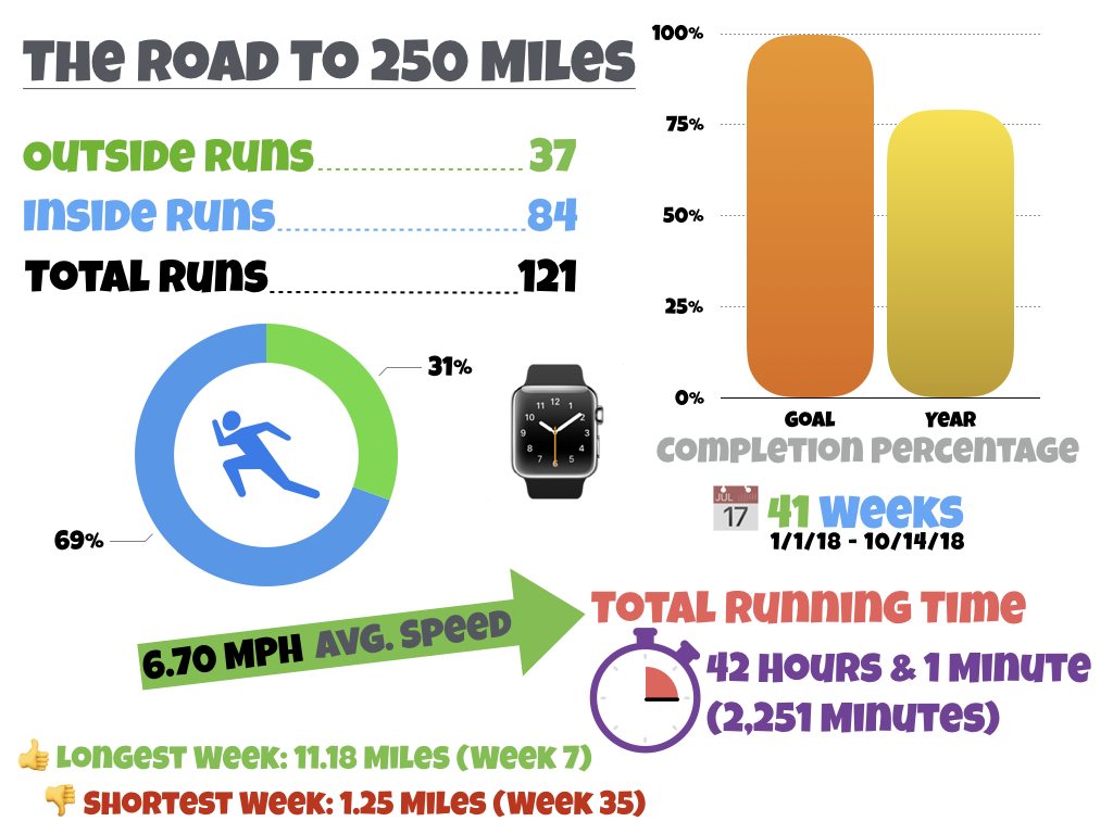 2018 250 Mile Challenge Running Infographic