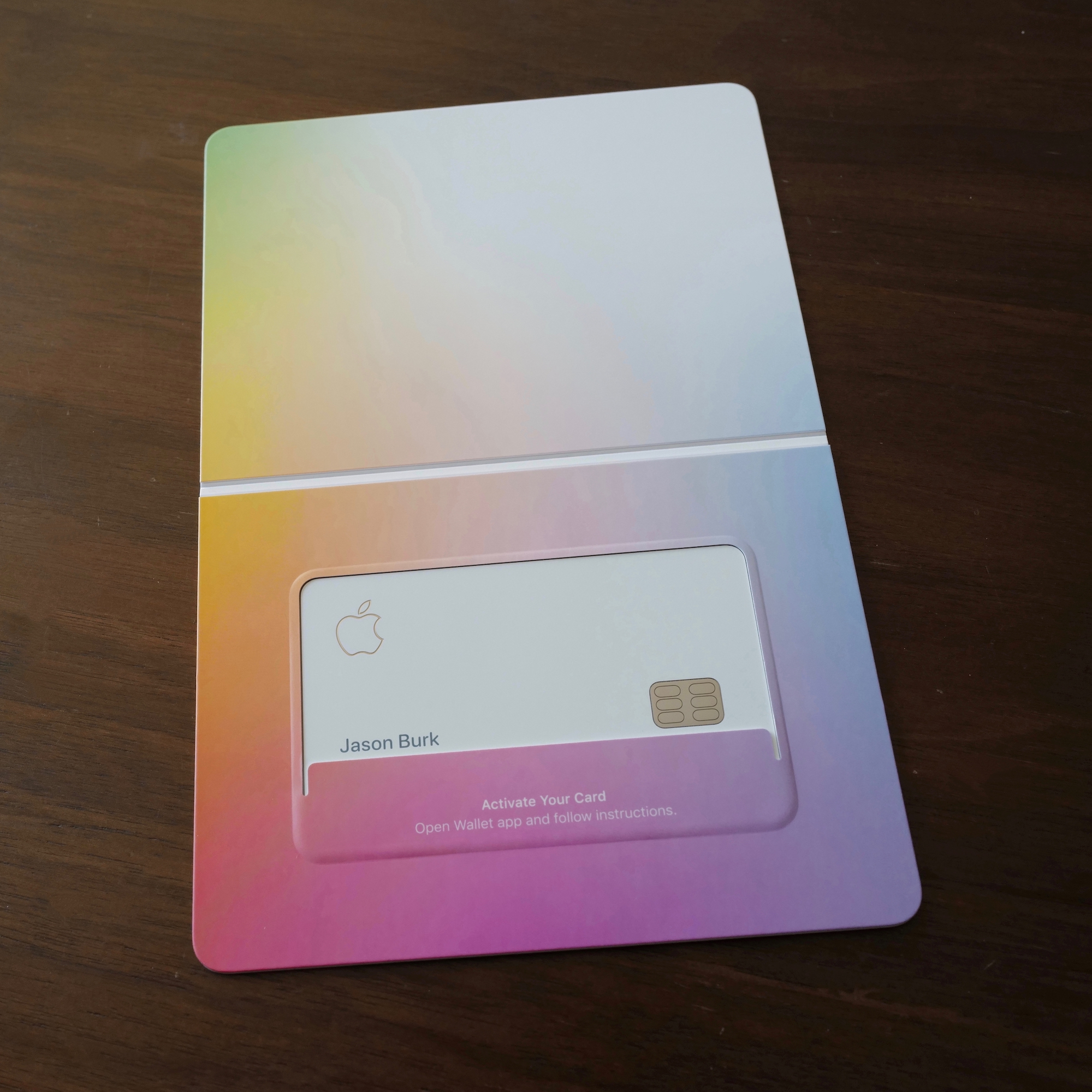 Apple Card Packaging - Open