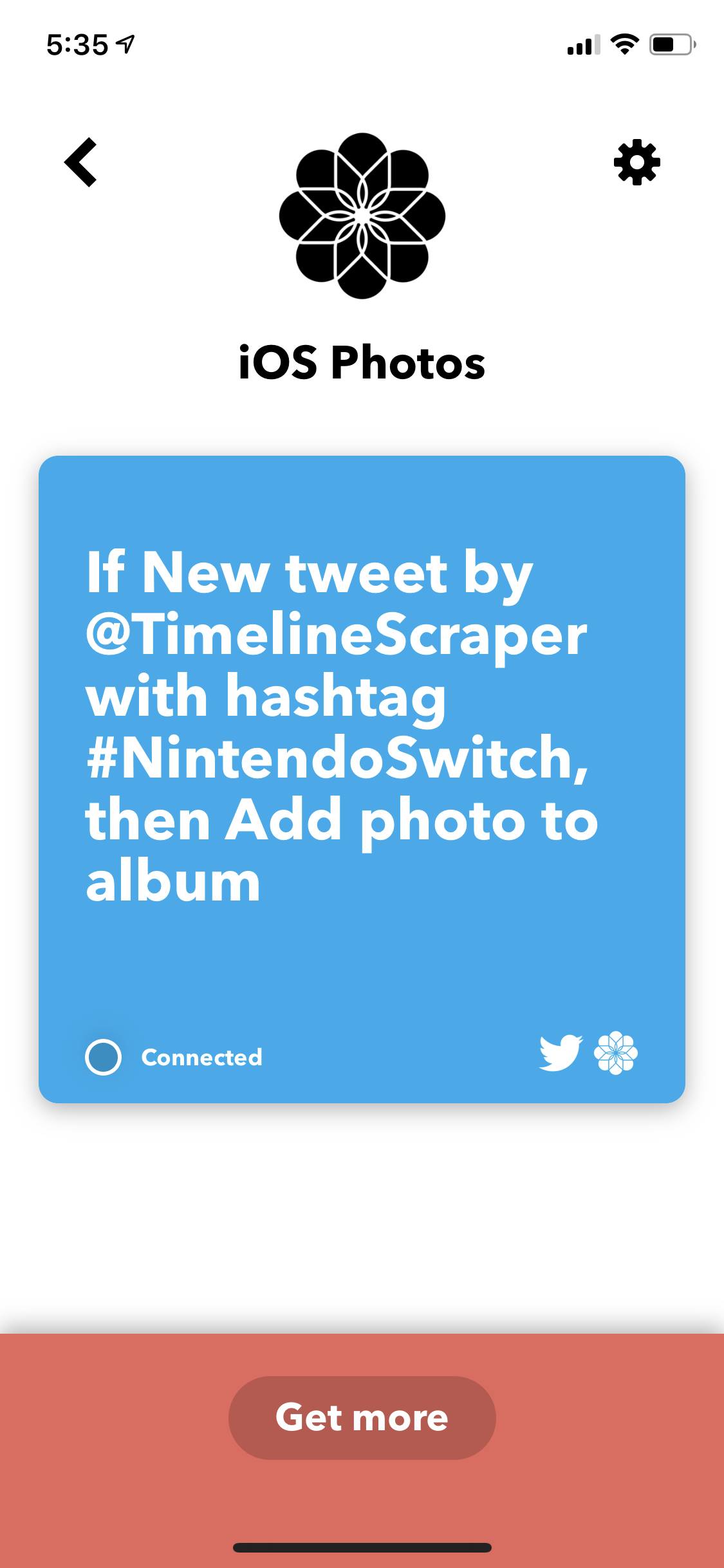 IFTTT Recipe Screenshot